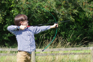 archey youth shooting bow
