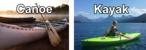 What is the difference between a kayak and canoe?