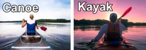 Difference between kayak canoe