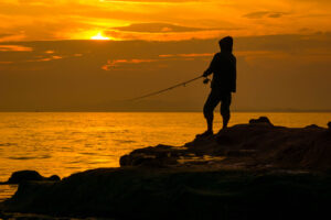 How to fish at night.