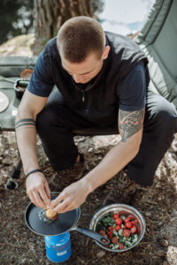 How to take eggs camping safely.